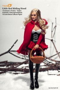 PHICEN Seamless BODY CG CY Girl FEMALE Little Red Riding Hood 1/6 Figure Pale