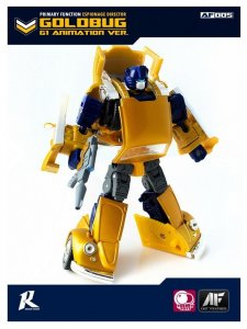 ART FEATHER AF Transformers GOLD BUMBLEBEE GOLDBUG G1 ANIMATION VER. Figure