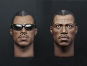 Custom Blade Wesley Snipes 1/6 Head Sculpt for Hot Toys Body