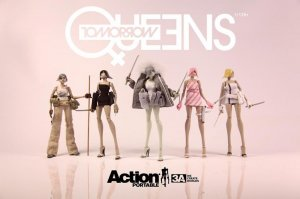 THREEA Ashley Wood Action Portable Tomorrow Queen 1/12 Set 5 Figures