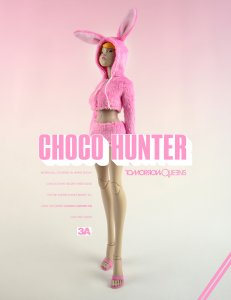 "3A ThreeA Ashley Wood CHOCO HUNTER TQ YO Tomorrow Queen 12"" figure"