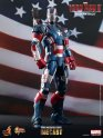 "HOT TOYS Diecast Iron Man 3 Iron Patriot 12"" Figure MMS195 D1"