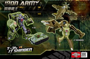 TFC Transformers IRON ARMY T-34 Tank vs J7 SHINDEN Fighter Figure