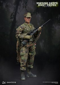 1/6 DAM Toys Marine Corps Scout Sniper - Sergeant Major #93018