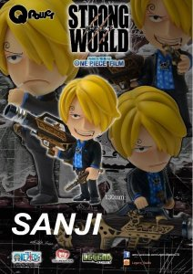 Q Power 004 One Piece Strong World SANJI PAINTED PVC Figure