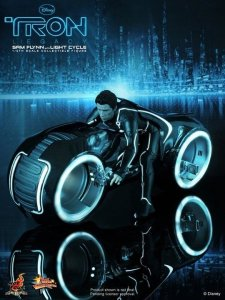 Hot Toys MMS142 Tron Legacy Sam Flynn with Light Cycle Sixth Scale Figure