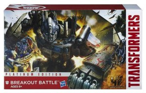 Transformers AOE Platinum Edition BREAKOUT BATTLE Rollbar+Vehicon+Optimus Prime