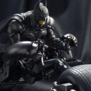 DARK KNIGHT TDX BATMAN & BAT-POD BANDAI SIC S.I.C REALIZATION FIGURE PA AQ3720