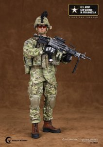 Crazy Dummy CD78004 1/6 Scale US ARMY SAW GUNNER IN AFGHANISTAN Action Figure