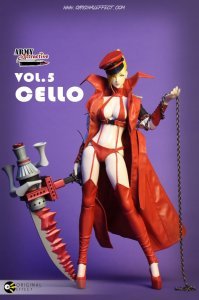 Original effect OE Army Attractive series- Vol.5 Cello 1/6 Figure