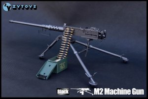 "ZY Toys 1:6 Scale US ARMY M2 Machine Gun Black Color Fit for 12"" Action Figure"