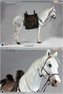 Asmus Toys 1/6 Scale Articulated White Horse ASM-CRE001