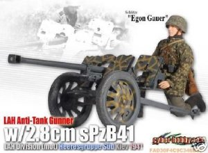 Dragon CYBER HOBBY German LAH Anti-Tank w/ 2.8cm sPzB41 Egon Gauer 1/6 Figure