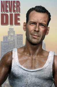 Custom 1/6 Scale Bruce Willis Head Sculpt For John Mcclane Die Hard Kit Bashing