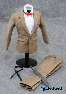 ZY Toys Men\'s khaki Color Suit Full Set 1/6 Fit for 12inch action figure