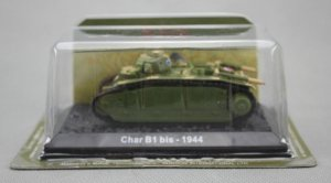 WWII 1944 France Char B1 bis Heavy Tank 1/72 Diecast Model