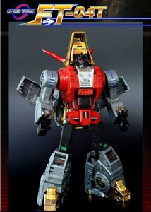 FANS TOYS FT-04T Transformers Masterpiece Scoria Iron Dibots Repainted Figure