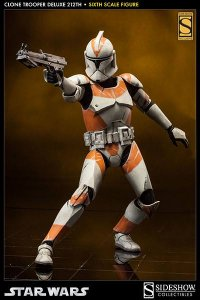 "SIDESHOW Star Wars Clone Trooper Deluxe: 212th 12"" Figure"