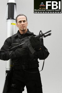 1/6 Art ACTION Figure AF014 AF-014 FBI Biochemical Weapons Expert Nicholas Cage