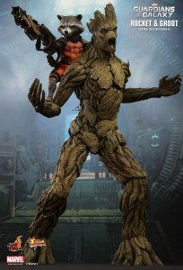 HOT TOYS Guardians of the Galaxy Rocket Groot 1/6 Figure Special VIP Edition MMS254