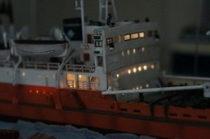 Bandai Otona No Chogokin 1st Antarctic Research Ship SOYA 1:250 Scale Diecast