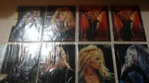 1996 Pamela Anderson Barb Wire Movie Laser Cut Embossed Chase Lot of 12 Insert