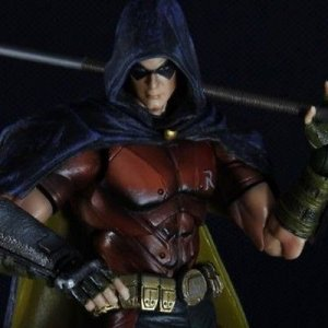 BATMAN ARKHAM CITY ROBIN PLAY ARTS KAI SQUARE ENIX PVC ACTION FIGURE PA AQ3899