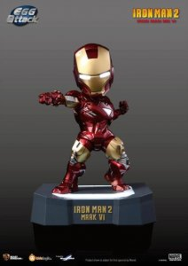 Kids Logic Marvel Iron Man 2 Mini Egg Attack LED MARK VI MK6 Figure NOT FAKE