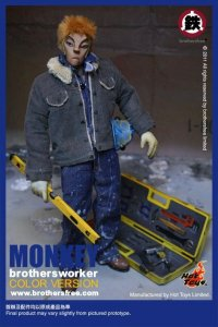 "Brothersfree x Hot Toys Monkey Brothersworker Color Version 12"" Figure"