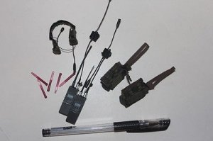 1/6 DAM TOYS 78009 Elite 1st SFOD-D Combat Applications Group Earphone headset