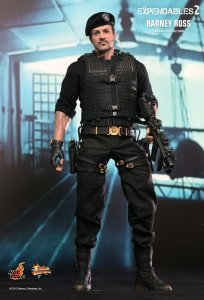 HOT TOYS MMS194 The Expendables 2 Barney Ross Sylvester Stallone 1/6 Figure