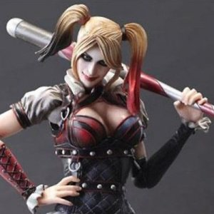 BATMAN ARKHAM KNIGHT HARLEY QUINN PLAY ARTS KAI SQUARE ENIX FIGURE PA AQ5615