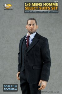 1:6 scale TOYS CITY TC-62027-A Mens Homme Select Suits Set A