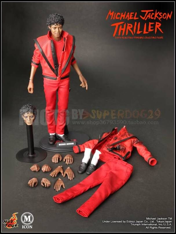 Hottoys michael jackson thriller version 1 6 scale for Three jackson toy