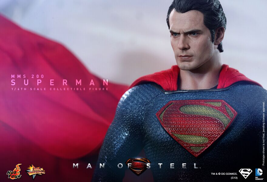 Hot Toys MMS200 Man of Steel Superman Henry Cavill 1//6 Figure New In Stock