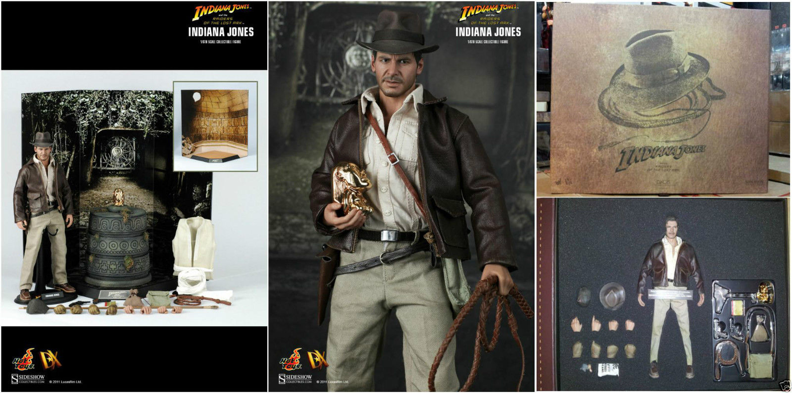 1//6 Scale Hot Toys DX05 Raiders of the Lost Ark Indiana Jones Pedestal