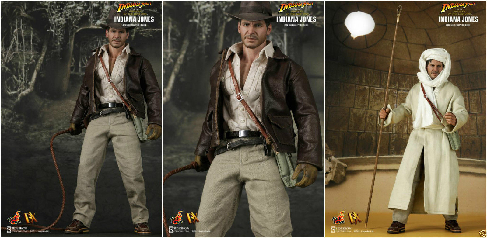 Hot Toys Raiders of the Lost Ark INDIANA JONES DX05 Figure 1//6 GLOVED FISTS