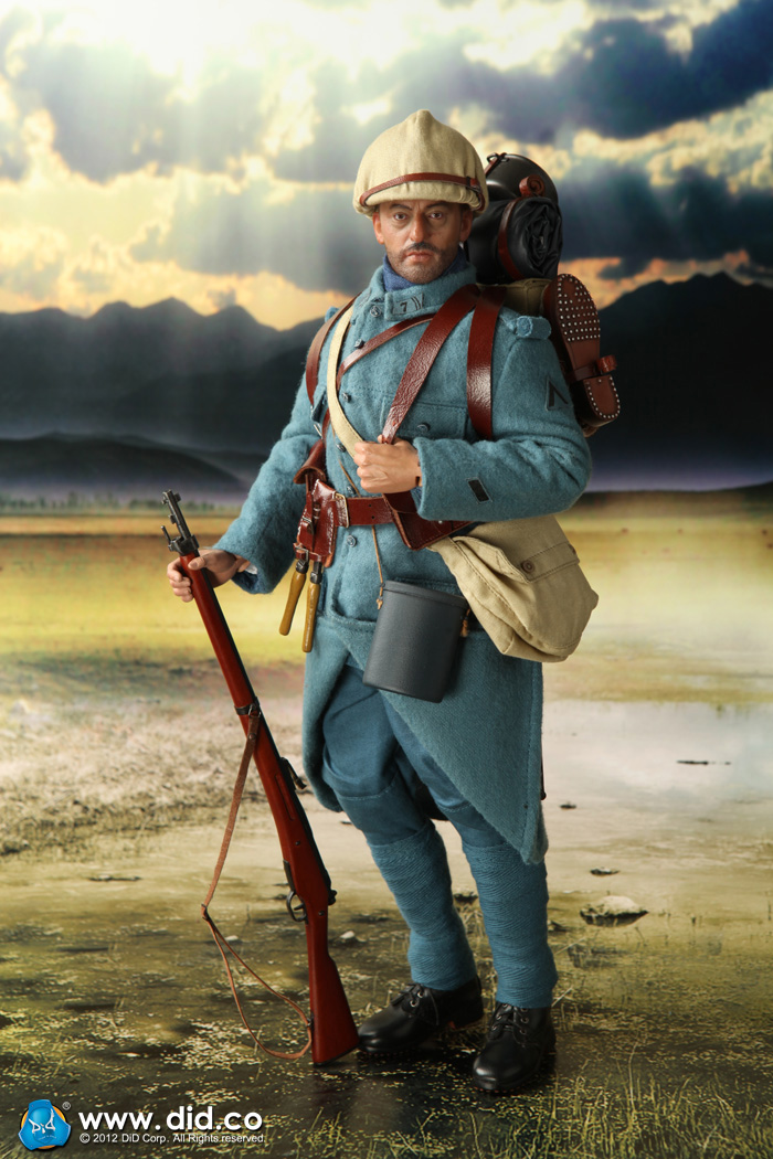 did wwi french infantry 1915 1916 pascal dubois 1 6 figure hot toys soldier story. Black Bedroom Furniture Sets. Home Design Ideas
