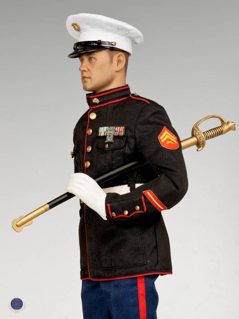 Cal Tek Usmc Dress Blue Marine 1 6 Figure 3a16 Com Hot Toys